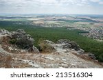 rocks  forest  city and fields. ... | Shutterstock . vector #213516304
