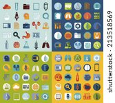 set of medical flat icons | Shutterstock . vector #213518569