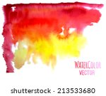 watercolor red and yellow... | Shutterstock .eps vector #213533680