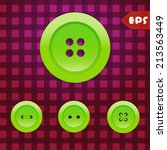 Set Of Lime Green Sewing Buttons