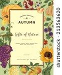 autumn harvest. vector vintage... | Shutterstock .eps vector #213563620