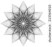 abstract digital line art... | Shutterstock . vector #213564010