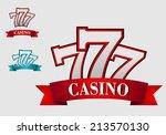casino gambling symbol or logo... | Shutterstock .eps vector #213570130