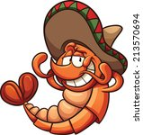 cartoon mexican shrimp relaxing....   Shutterstock .eps vector #213570694