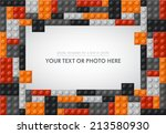 template of plastic parts for... | Shutterstock .eps vector #213580930