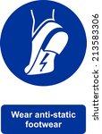 wear anti static footwear | Shutterstock .eps vector #213583306