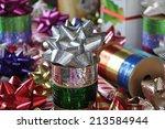 silver ribbon  | Shutterstock . vector #213584944