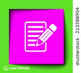 pictograph of note   Shutterstock .eps vector #213588904