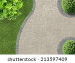 aesthetic garden design detail... | Shutterstock . vector #213597409