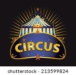 fantastic circus big top. a... | Shutterstock .eps vector #213599824