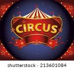 Red Night Circus Sign. A Circu...