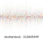 round waveform background....