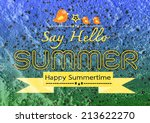 summer idea design card on... | Shutterstock . vector #213622270