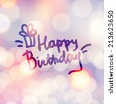 happy birthday  vector... | Shutterstock .eps vector #213623650