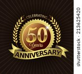 celebrating 50 years... | Shutterstock .eps vector #213625420