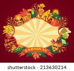 brazilian carnival. vector...   Shutterstock .eps vector #213630214