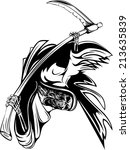 grim reaper on white background   Shutterstock .eps vector #213635839