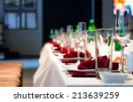 formal stylish setting on a... | Shutterstock . vector #213639259