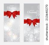 christmas gift card set vector... | Shutterstock .eps vector #213640270