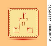 square button. vector icon flat ...   Shutterstock .eps vector #213649750