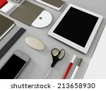 mockup business template | Shutterstock . vector #213658930