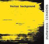 yellow vector brush stain on... | Shutterstock .eps vector #213660406