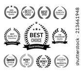 sale premium quality best... | Shutterstock .eps vector #213661948