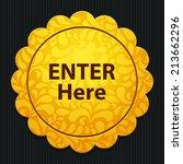 beautiful enter web icon | Shutterstock .eps vector #213662296