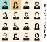 office people icons set.  | Shutterstock .eps vector #213663058