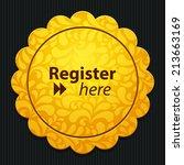 beautiful register web icon | Shutterstock .eps vector #213663169