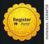 beautiful register web icon | Shutterstock . vector #213666718