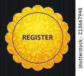 beautiful register web icon | Shutterstock . vector #213667948
