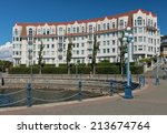 condominium or apartment... | Shutterstock . vector #213674764
