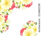 abstract flower background with ... | Shutterstock .eps vector #213682258