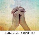 Praying Hands On Vintage...