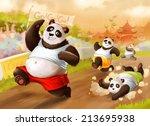 pandas compeating | Shutterstock . vector #213695938