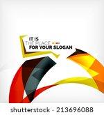 business wave corporate... | Shutterstock . vector #213696088