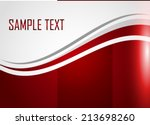 red abstract background | Shutterstock .eps vector #213698260