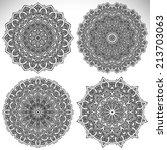 mandalas. round ornament... | Shutterstock .eps vector #213703063