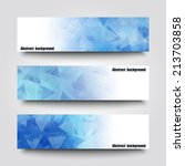 set of banner templates with... | Shutterstock .eps vector #213703858