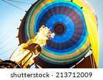 Hot Air From A Gas Burner Fill...