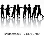 group of children | Shutterstock .eps vector #213712780