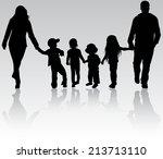 family outdoors | Shutterstock .eps vector #213713110