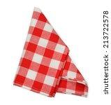 red napkin isolated on white... | Shutterstock . vector #213722578