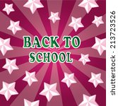 back to school background with... | Shutterstock .eps vector #213723526