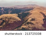 an aerial view with a mountain... | Shutterstock . vector #213725338