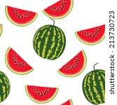 watermelon pattern | Shutterstock .eps vector #213730723