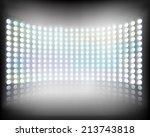 large multimedia screen. vector ... | Shutterstock .eps vector #213743818