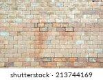 background of old vintage brick ... | Shutterstock . vector #213744169