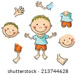 cartoon body parts | Shutterstock .eps vector #213744628